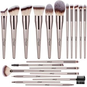 20 PCs Makeup Brushes - Champagne Gold